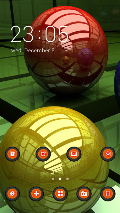 Cool theme balls three colored surface wallpaper