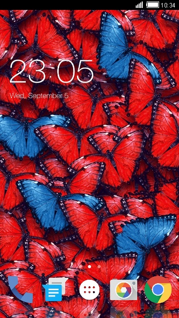Theme for Lava Iris 470: Butterfly Wallpaper HD