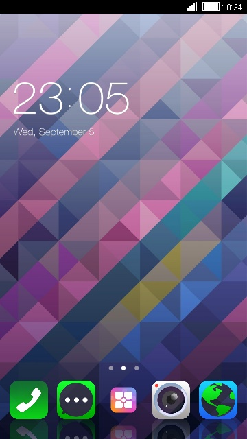 Abstract Shape Theme for Lenovo K5 Note