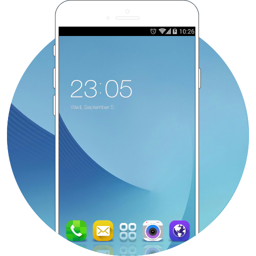 Samsung Galaxy J5 Pro Free Android Theme U Launcher 3d