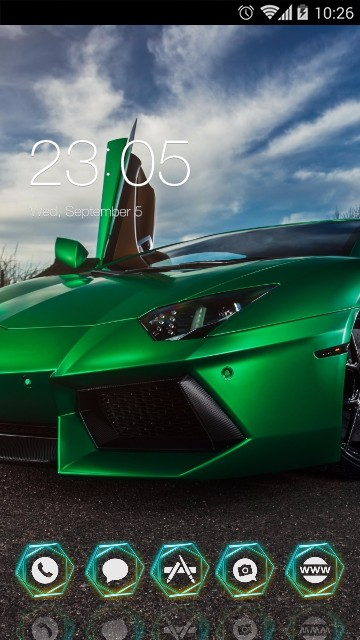 Cool Car :Green Lamborghini