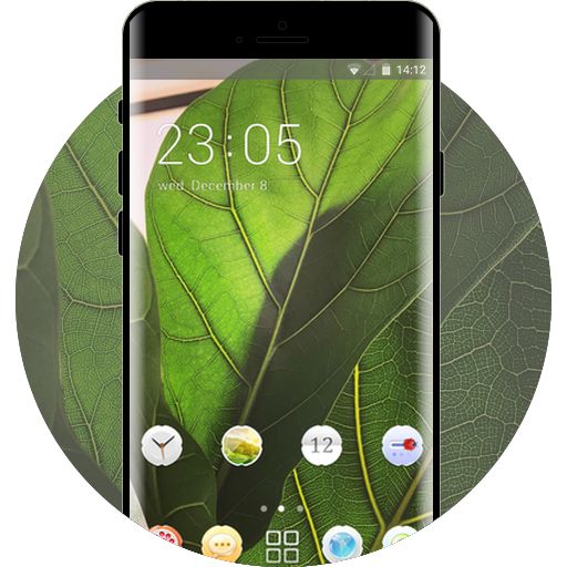 fresh leaves free android theme – U launcher 3D