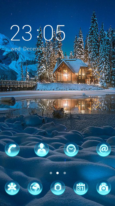 snowy lake theme