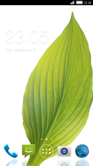 Green Nature Theme for Micromax Bolt A46