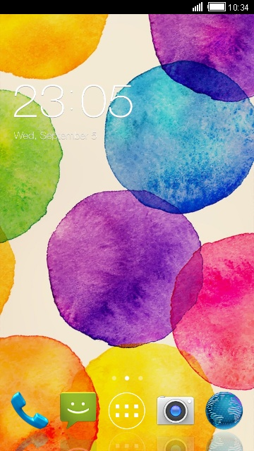 Watercolor Theme for Intex Aqua Secure