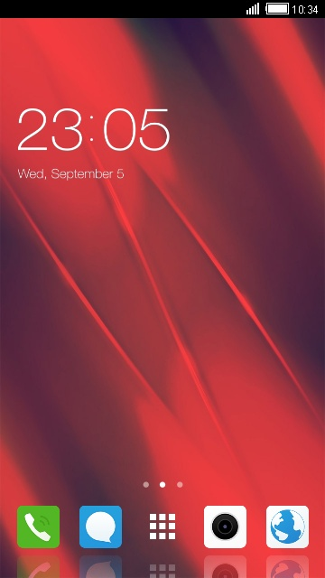 Y55L Vivo Red Theme for Funtouch Launcher