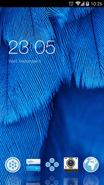 Beautiful Theme  Blue Feather