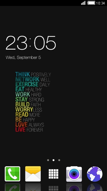 Galaxy J7: Motivational quotes