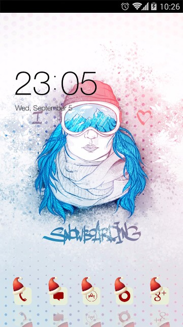 Girly Theme: Chic Snowboarding Girl Wallpaper