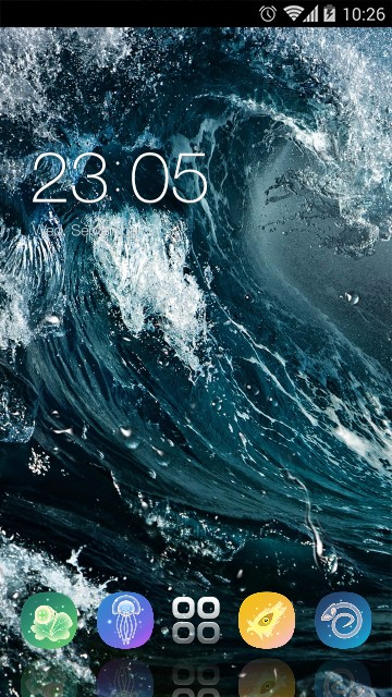 Raging waves Live Wallpaper & Theme for Android