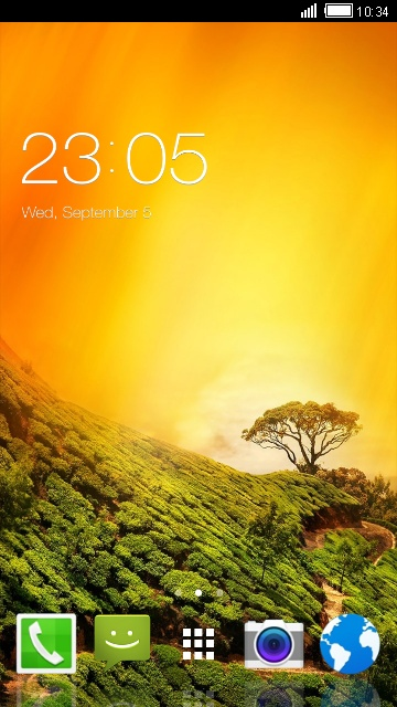 Landscape HD Theme for Samsung Galaxy Pocket