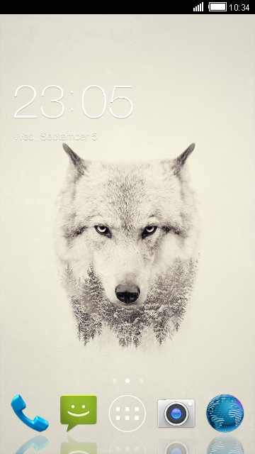 Ice Wolf Theme for Micromax Bolt A066