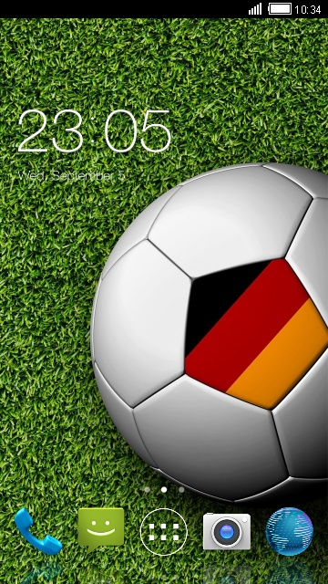 Football Launcher Theme for Lava Iris