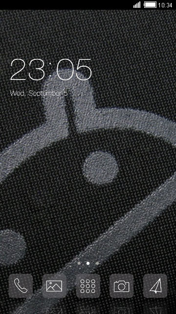 Android in black