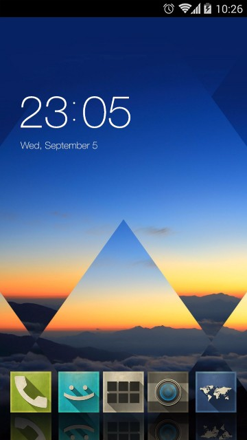 Abstract Cloud Triangle