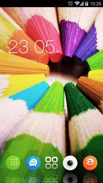 Stylish Colored Launcher Theme & Wallpaper