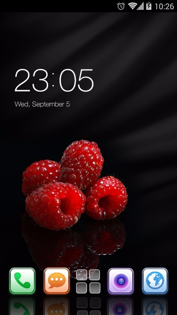 Cool Black Theme Red Raspberry Wallpaper