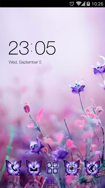 Beautiful Theme: Purple Flower