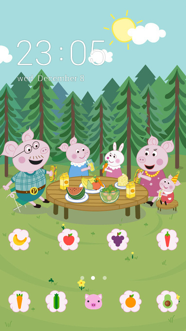 cartoon pink peppa
