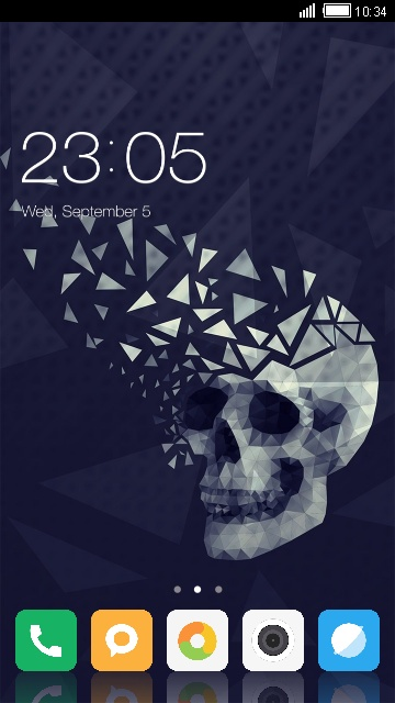 Theme for Xiaomi Mi MIX: Black Skull