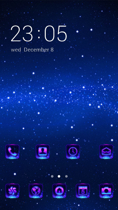 Fantasy theme space stars blue wallpaper