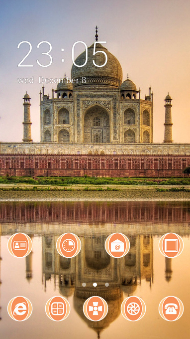 Nature theme taj mahal agra india wallpaper