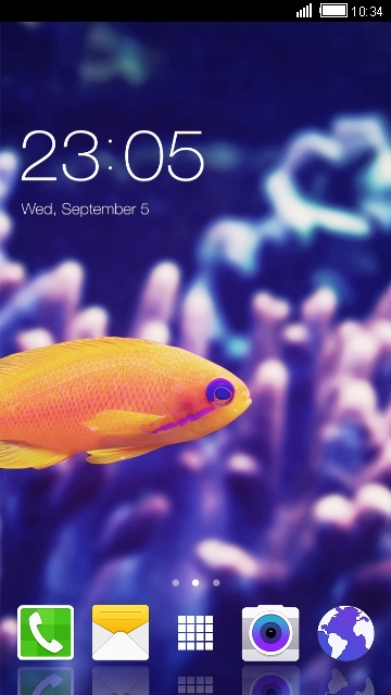 A7 Galaxy Samsung Theme: Fish Live Wallpaper