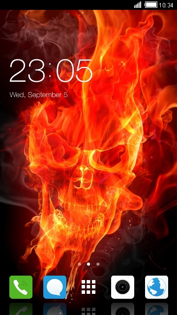 Skull Hellfire Theme for Vivo Y66 wallpaper
