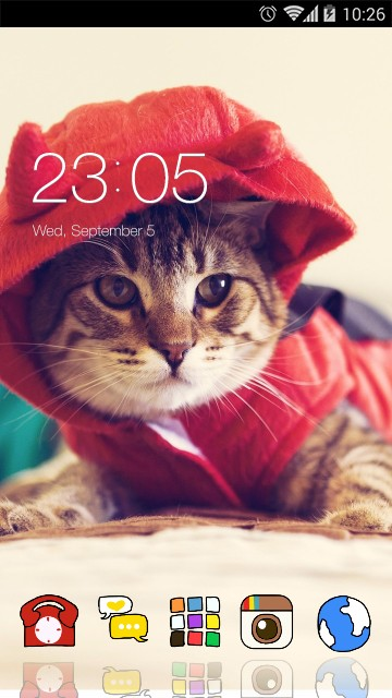 Cute Kitty Theme: Cat in Red
