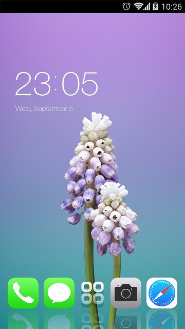Theme for iPhone X: Purple Flower Icon Packs