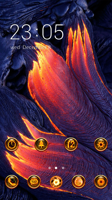 Beautiful magma