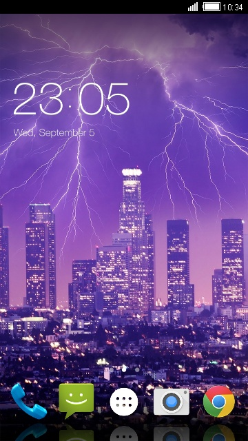 Theme for Intex Cloud Pace Lightning strike LWP