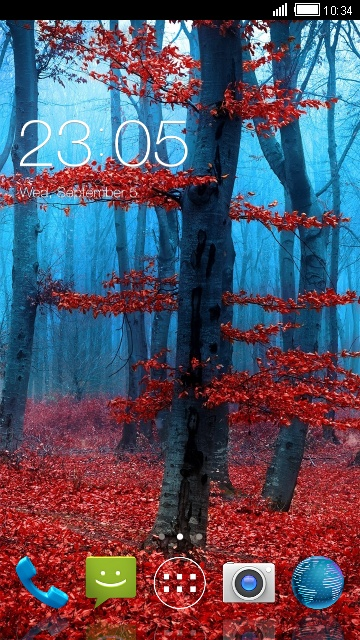 Theme for Micromax Unite Fall Leaves Background