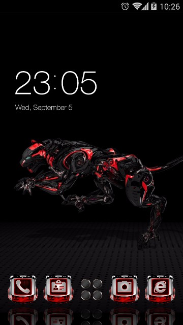 Cool Cheetah wallpaper Mechanical Gears theme