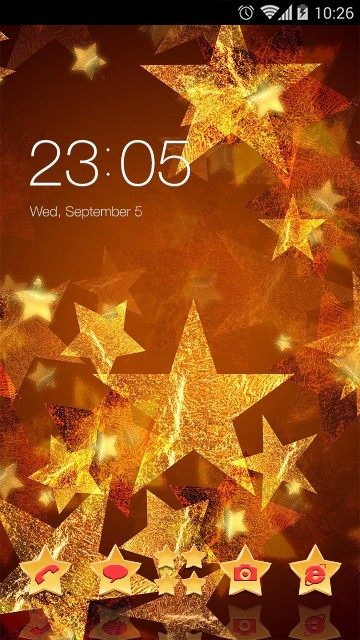 Little Star Theme Glitter light Wallpaper