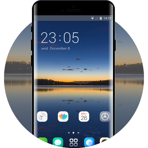 OPPO F9 Pro free android theme – U launcher 3D
