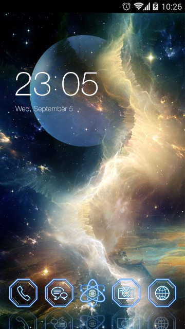 Galaxy Live wallpaper & Moon Theme
