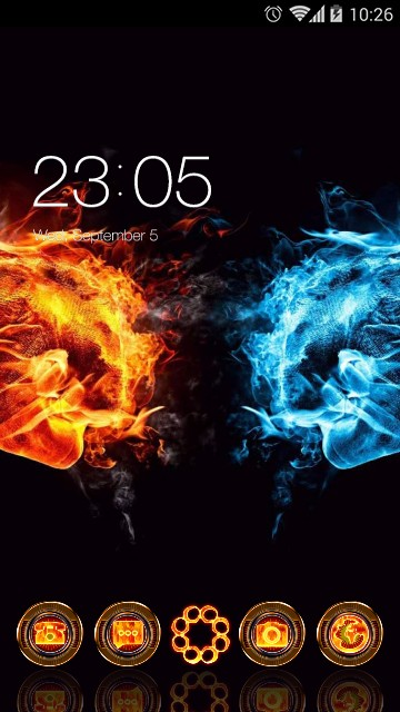 Cool Fire and Ice Neon Theme