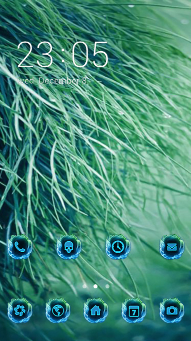 green grass theme