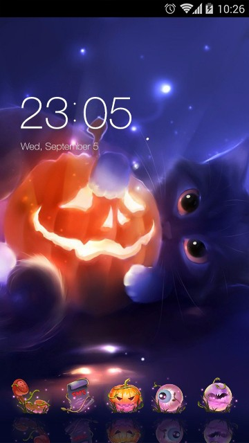 Happy Halloween theme: Cute Kitty Wallpaper HD