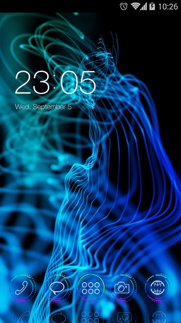 Abstract Smoke Theme: Chaotic line Wallpaper