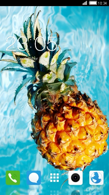 Pineapple Fruit Theme for Oppo F5