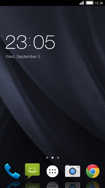 Black Smooth Business Theme for Lava Iris 400s