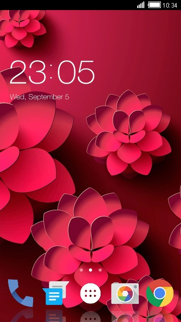 Red Flower Theme for Lava Iris Pro 20