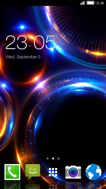 Abstract neon background & Theme for Lava 3G 412