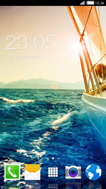 Theme for Micromax Canvas Magnus Ship Wallpaper