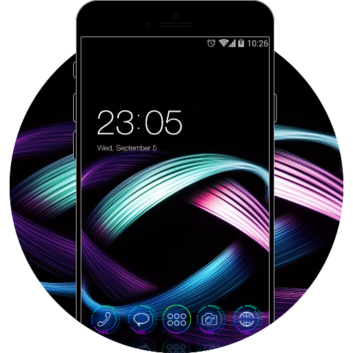 Abstract Art for Galaxy S8 free android theme – U launcher 3D