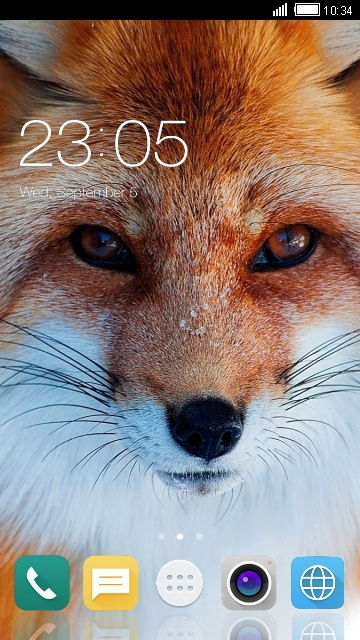 Theme for Intex Cloud Crystal 2.5D Fox Wallpaper