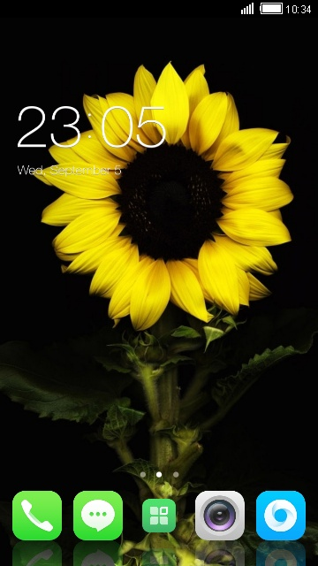 Theme for Spice M-5570 Sunflower Wallpaper HD