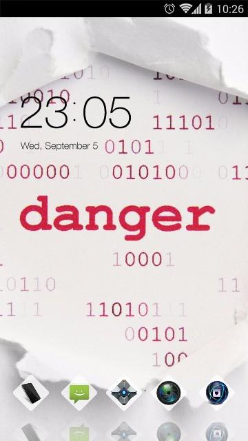 stylish danger text